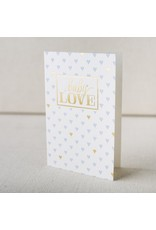 Baby Love Hearts letterpress and foil card