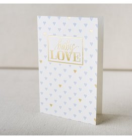Smock Baby Love Hearts letterpress and foil card