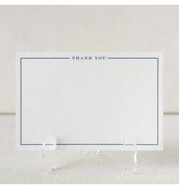Smock Navy Frame letterpress cards