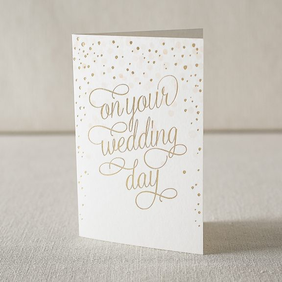 Your Wedding digital and foil card