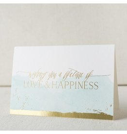 Smock Love and Happiness digital and foil card