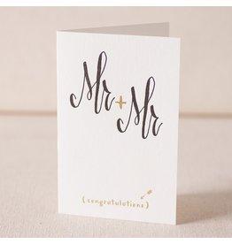 Smock Mr & Mr Script letterpress & foil card