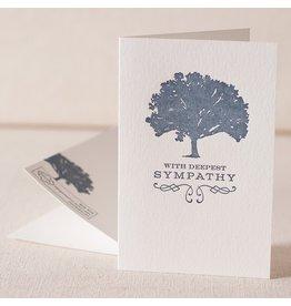 Sympathy Tree letterpress card