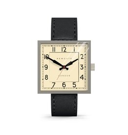 Newgate THE CUBE GRAND, STAINLESS STEEL/BLACK LEATHER