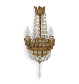 Mini Vintage Sconce Frosted White