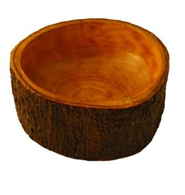 Be Home Mango Wood Salad Bowl with Bark Small