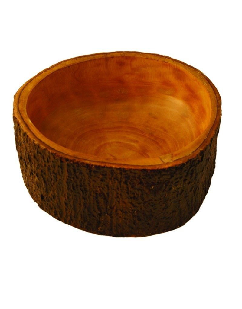 Be Home Mango Wood Salad Bowl with Bark Small