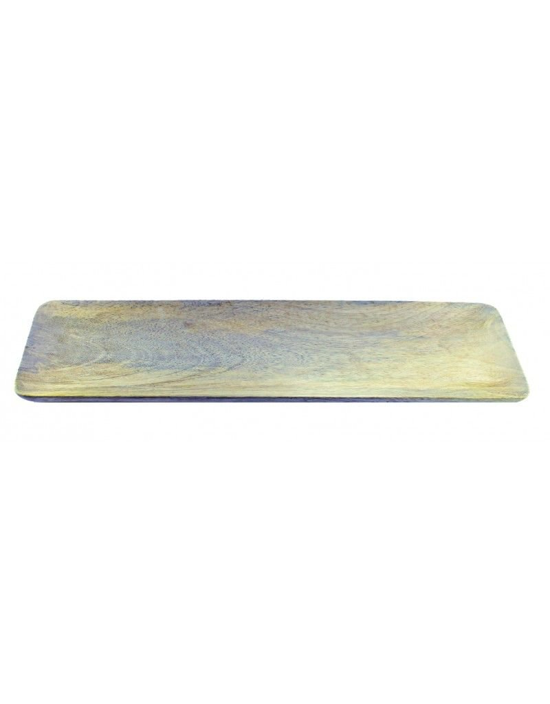 Be Home Natural Mango Wood Rectangular Tray