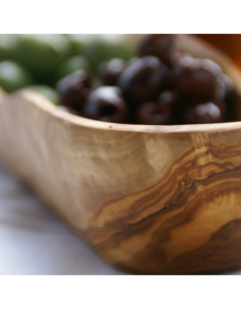 Be Home Olive Wood Long Oval Dish