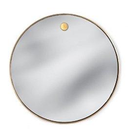 Regina Andrew Hanging Circular Mirror, Brass