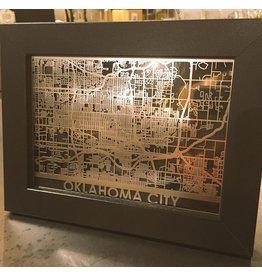 "CutMaps Oklahoma City, 5""x7"""