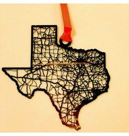 CutMaps Texas Ornament