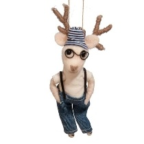 Holiday Hipster Ornament