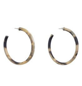 Large Buffalo Hoop Earrings