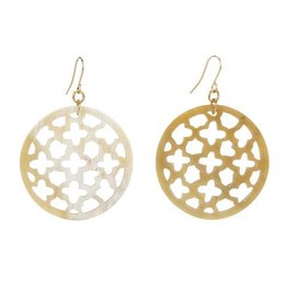 Natural Buffalo Lattice Earrings