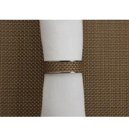 Chilewich Mini Basket Weave Napkin Ring NEW GOLD 1.5 Dia.