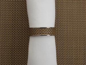 Chilewich Mini Basket Weave Napkin Ring NEW GOLD 1.5 Dia.