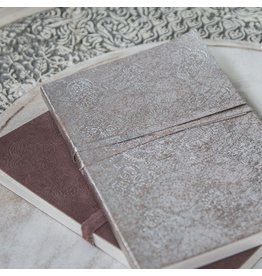 Zenza Suede Notebook, Small Silver