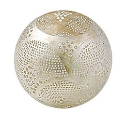 Zenza Round Waxholder with Fan Design, Nickel