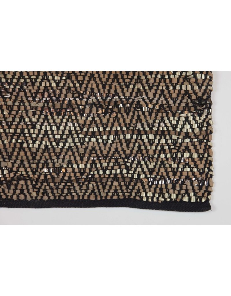 Zenza zenza gold/copper metallic runner rug - considered items for a