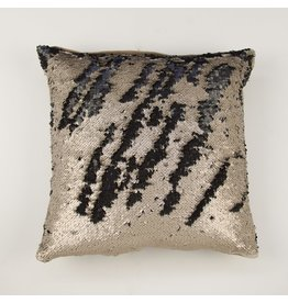 Dancer Pillow, Black and Beige