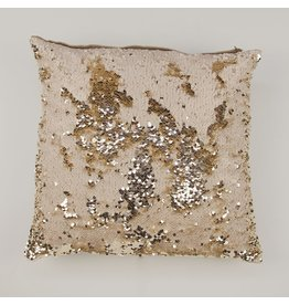 Zenza Dancer Pillow, Gold and Off-White