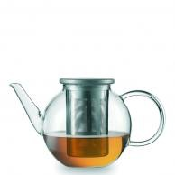 Jenaer Glas Good Mood Teapot w/SS lid and strainer 13.5oz