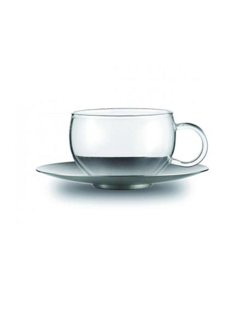 Fortessa Jenaer Glas Good Mood Cup w/SS Saucer