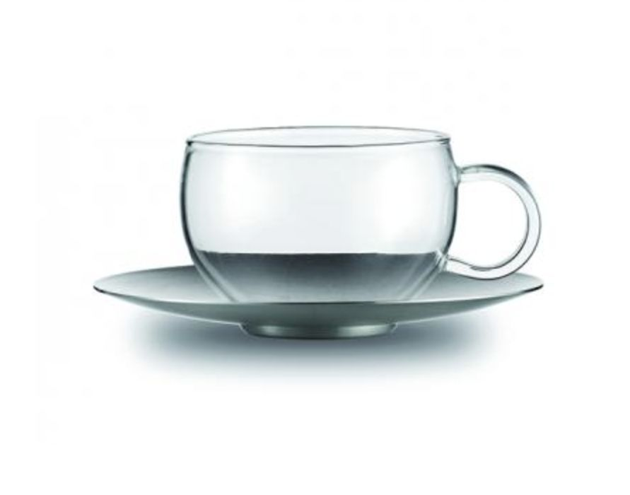 Jenaer Glas Good Mood Cup w/SS Saucer 6.8oz
