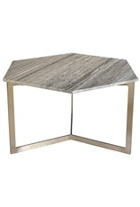VARGO HEX COFFEE TABLE GRAY MARBLE