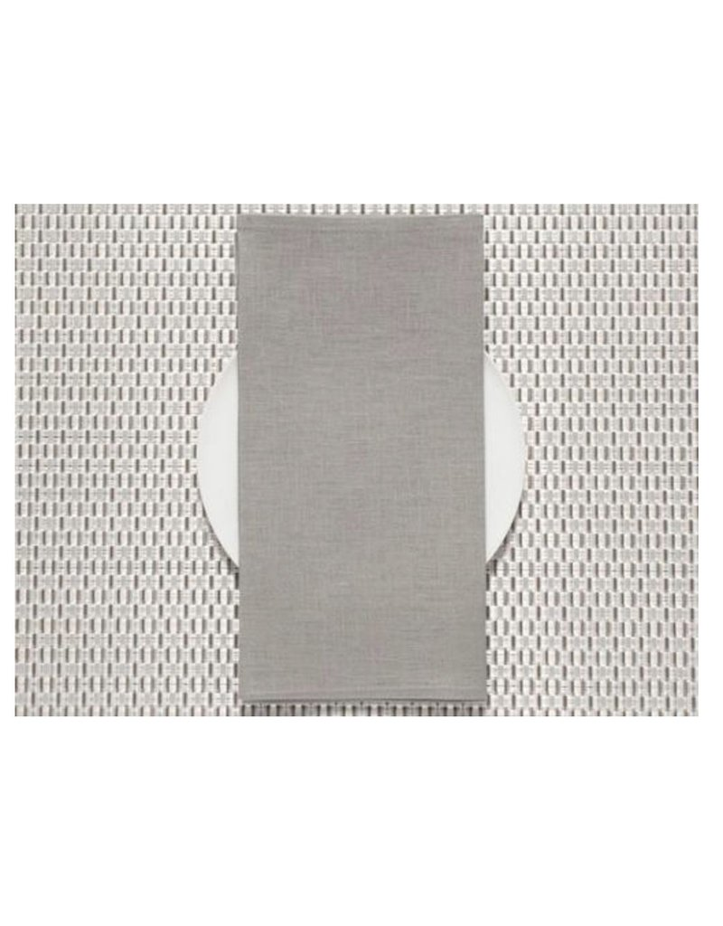 Chilewich Linen Napkin 21x21 PALE GREY