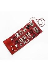 Vegan Leather Travel Cord Roll - Red
