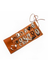 Brouk Vegan Leather Travel Cord Roll - Orange