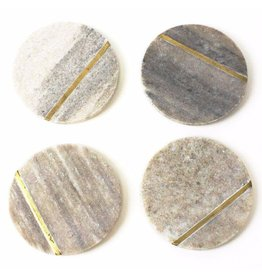 Roost Aragon Marble Coasters, Set of Four