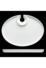 "Fortessa Kyoto Pass Plate- 10""x7.5"" Oval"