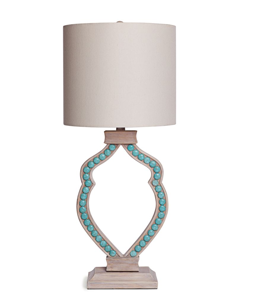 Turquoise Cabochon Lamp
