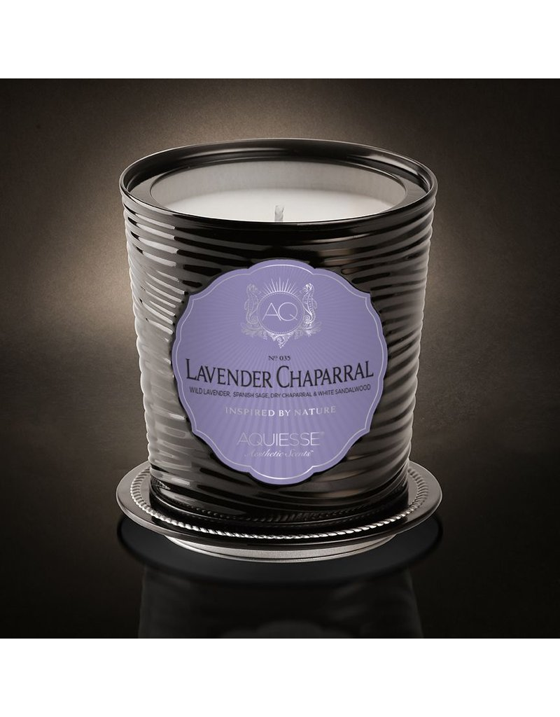 Aquiesse Lavender Chaparral Tin Candle