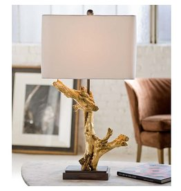 Gilded Driftwood Table Lamp