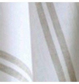 """Patrick Tea Towel, White w/ Natural Stripe, 20""""x28"""" 100% Linen"""