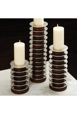 Short Stacked Plate Candle Holder- Medium