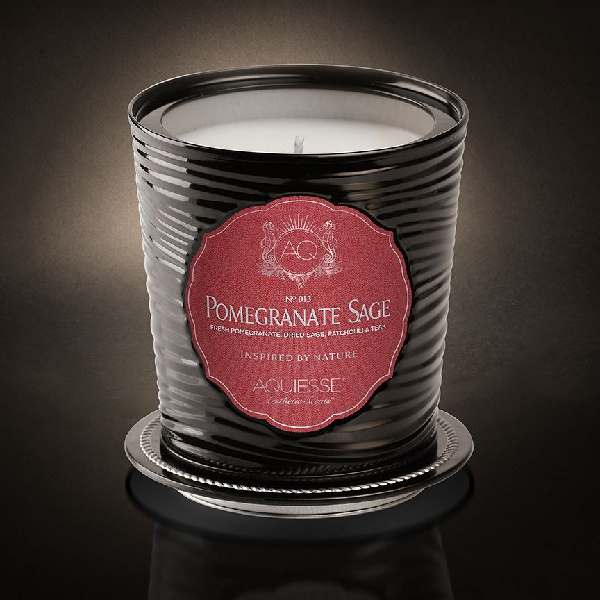 POMEGRANATE SAGE Tin Candle