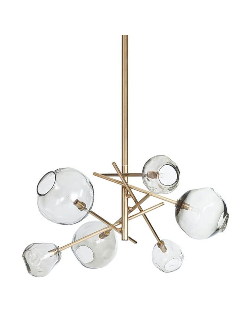 Regina Andrew Molten Chandelier, Brass - Smoke Glass