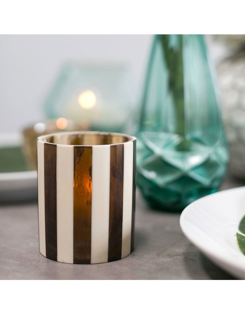 Accent Decor Foxy Votive, Stripe