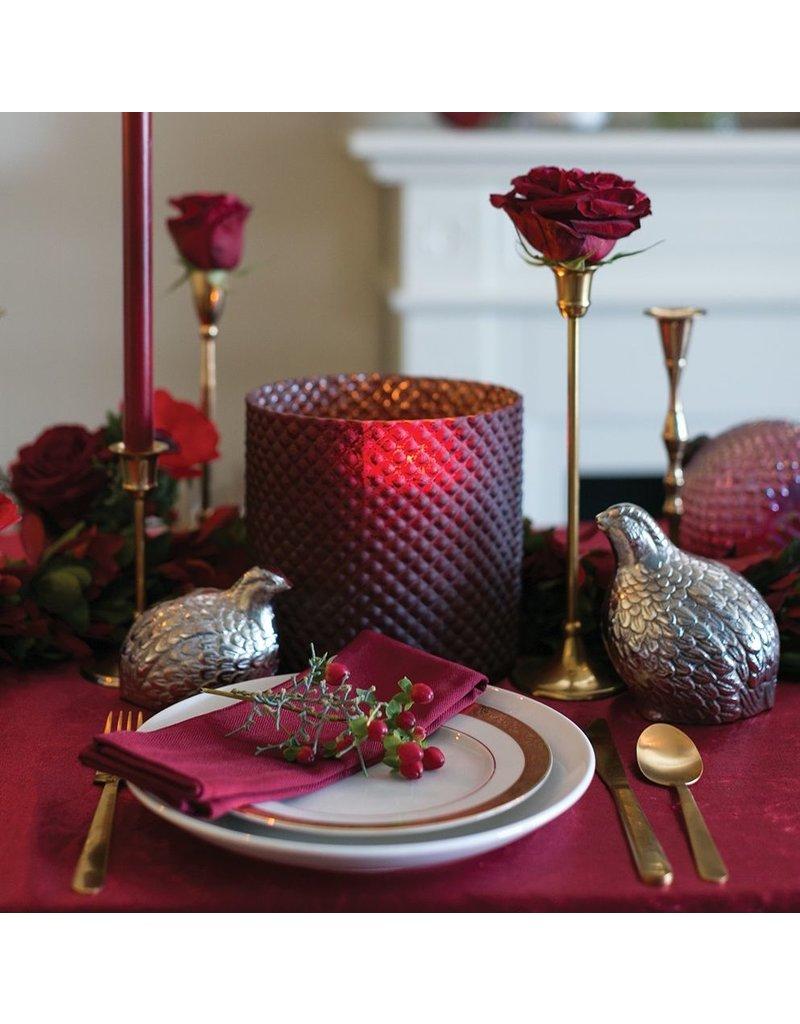 Accent Decor Cranberry Vase, 7.75 inch