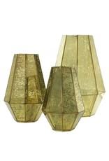 "Hepburn Lantern, Gold - 9.5x14.75"""