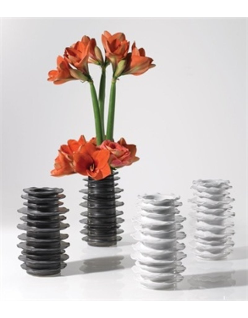 "Accent Decor Larue Vase, White - 5.5x8.5"""