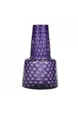 "Optic Glass Vase 18"" - Amethyst"