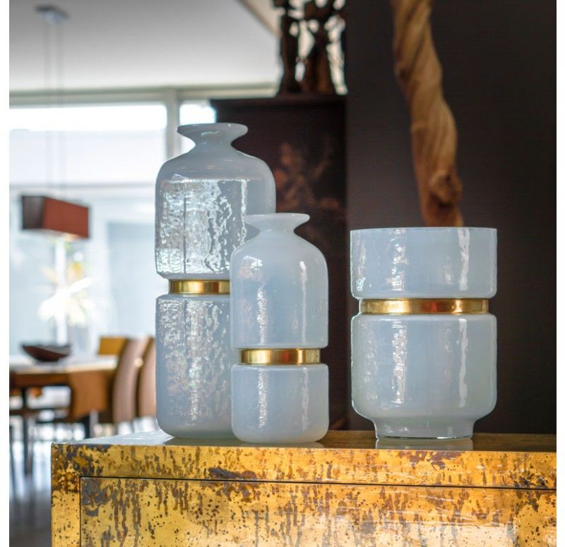 "Milk Glass Vase, 15.75"" Tall"