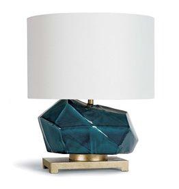Regina Andrew Peacock Ceramic Geode Table Lamp
