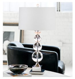 Modern Stacked Crystal Sphere Table Lamp